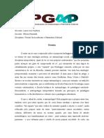 Resenha do texto de Roberto Cardoso de Oliveira