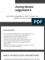 Marketing Models Assignment 6