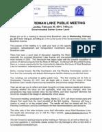 West Boardman Lake Meeting Invite