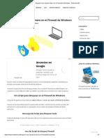 Bloquear una carpeta entera en el Firewall de Windows - Zentinels.NET