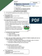EVALUACION DIAGNOSTICA COMUNICACION Y PERSONAL SOCIAL 2DO GRADO