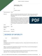 SCIENCE OF INFIDELITY