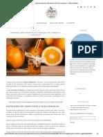 Aprenda como fazer óleo essencial de laranja e tangerina - Jardim do Mundo