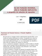 Teoremas FInversa, Contraccao e FImplicita