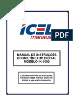 Manual Multímetro Icel IK1000