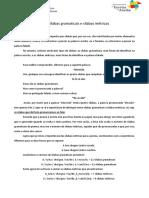Ficha Informativa - Sílabas gramaticais e sílabas métricas