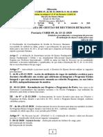 14.11.2020 Portaria CGRH-09 Cronograma Atribuição de Classes e Aulas -Ano Letivo de 2021alterações Portaria CGRH-15 D.O. 01.12.2020