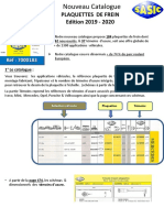 NVCatalogue plaquettes et témoins d'usure Sasic 2019 2020 fiche