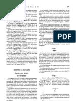 Decreto-Lei n.º 18_2011 de 2 Fev. Reorganização curricular