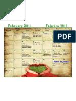 Febrero 2011 - Calendario Cristo la Roca