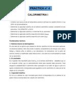Practica N° 4 Calorimetria I