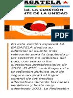 Bagatela 72 - La cuestión candente de la unidad. Editorial