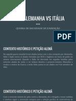 CASO ALEMANHA VS ITÁLIA (1)