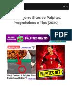 Melhores Sites de Palpites de Futebol, Prognósticos e Tips