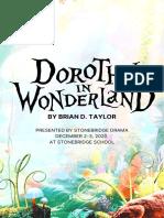 """Dorothy in Wonderland"" Playbill"