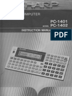 sharp pc-1401 manual