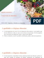 UFCD 3547_Higiene e conservação de alimentos