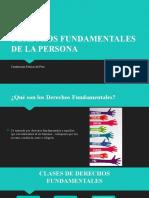 DERECHOS FUNDAMENTALES DE LA PERSONA