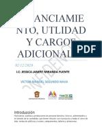 FINANCIAMIENTO, UTLIDAD Y CARGOS ADICIONALES