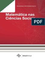Livro Matemática nas Ciências Sociais