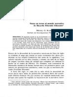 Notas en torno al mundo narrativo de Ricardo Elizondo Elizondo