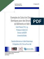 04 - Exemples de Calcul de Charges Sismiques pour des Structures_Filiatrault