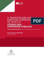 A TRANSPOSIÇÃO DAS diretivas europeia de 2014 e o codigo dos contratos publicos.pdf