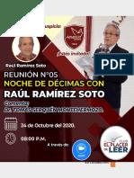 ANTOLOGÍA de décimas de don Raúl Ramírez Soto
