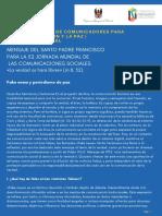 Lectura 1_Taller regional de comunicadores para la reconciliación y la paz - CCN  Modalidad virtual