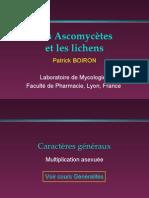 Les Ascomycètes et les lichens