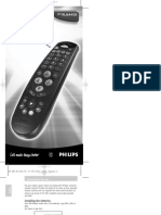Philips Universal Remote Control SBC RU 644 English Manual