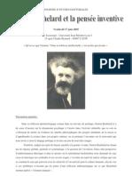 Gaston Bachelard Et La Pensee Inventive