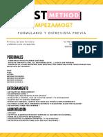 FORMULARIO INICIAL TST 3