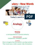 C1 Vocabulary - New Words - 2 - Analogy