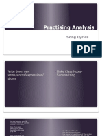 Analysis of text for Lecture 3- Song Lyrics.pptx