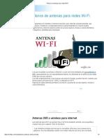 Planos de antenas para redes Wi-Fi