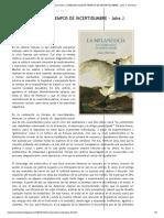 El quimérico lector_ LA MELANCOLÍA EN TIEMPOS DE INCERTIDUMBRE - Joke J. Hermsen