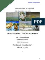 Introducción a la teoría económica.