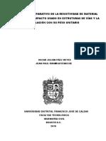 ESTUDIO COMPARATIVO DE LA RESISTIVIDAD DE MATERIAL
