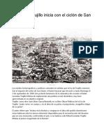 LECTURA CICLON-La Era de Trujillo inicia con el ciclón de San Zenón