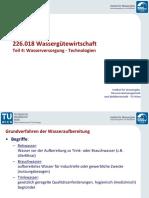 4 - Wasserversorgung - Technologien