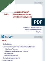 5 - Abwasserableitung - Abwassermengen und Entwässerungssysteme