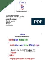 Chapitre 1 - Java & Tableaux & Applets & OO _2