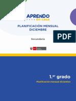 PLANIFICACIÓN MENSUAL - DICIEMBRE - Secundaria_siagie cusco