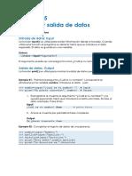 Capítulo 5  Entrada y salida de datos