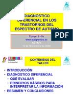 Diagnóstico diferencial en los TEA_Equipo Iridia