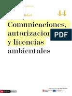 Comunicaciones, autorizaciones licencias