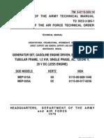TM 5-6115-323-14 (1.5kW Generator)