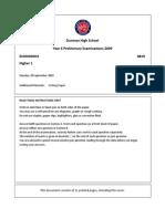 H1 Economics Paper