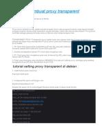 Tutorial membuat proxy transparent